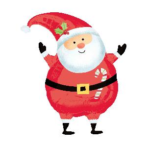 Globo helio Papá Noel navidad