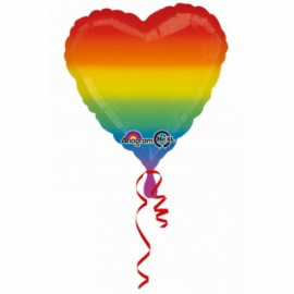 Globo helio corazón arcoiris
