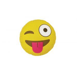 Globo helio emoticono lengua