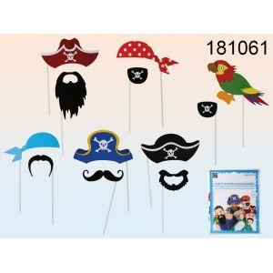 Kit photocall fiesta pirata 12 piezas