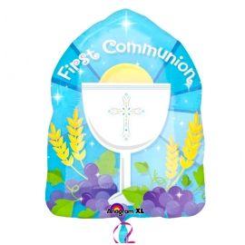 Globo helio comunión azul