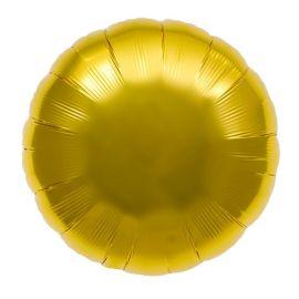 Globo helio gigante circulo oro