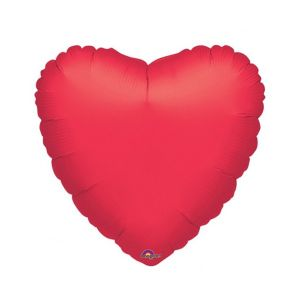 Globo helio gigante corazon rojo