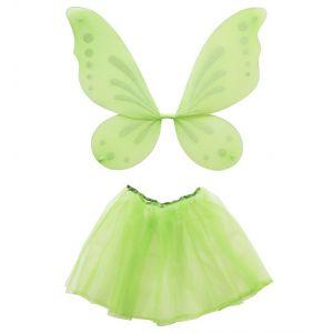 Set hada verde tutú y alas