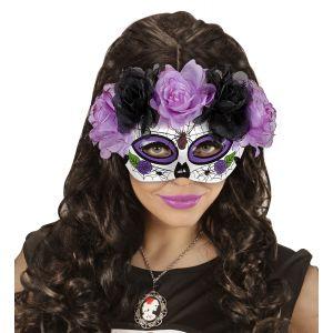 Mascara dia de los muertos violeta