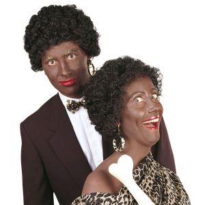 Peluca afro negra unisex adulto