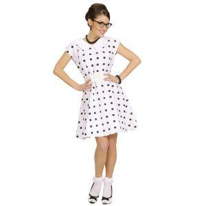 Disfraz chica ños 50 blanco