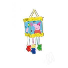 Piñata Peppa Pig con antifaz
