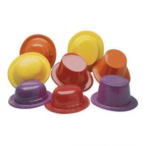 Sombrero bombin-copa color plastico surt