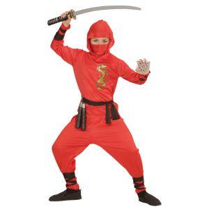 Disfraz ninja rojo sencillo