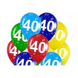 Globos numero 40 12 unidades