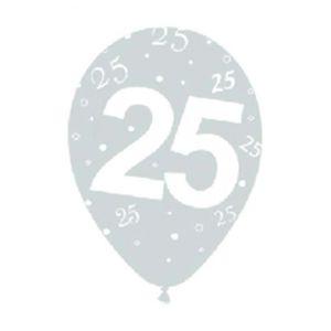 Globos numero 25 plata 12 und