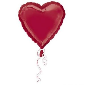 Globo helio corazon burdeos