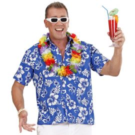 Camisa hawaiana azul