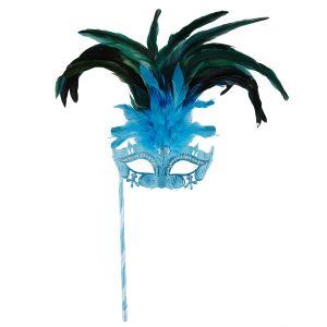Antifaz marquesa azul