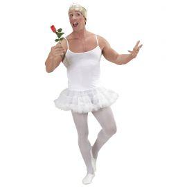 Disfraz bailarina blanca hombre
