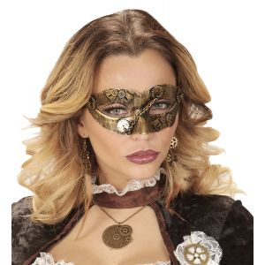 Mascara steampunk oro