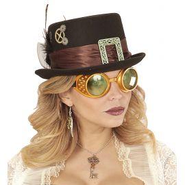 Gafas steampunk oro