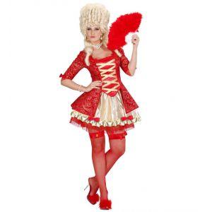 Disfraz reina barroca roja