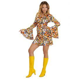 Disfraz hippie chica groovy