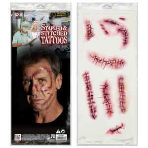 Set 10 tatuajes puntos y suturas