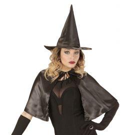 Set capa y sombrero bruja