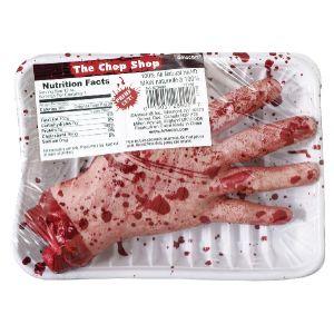 Mano comida plastificda
