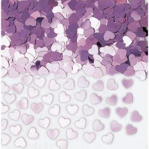 Confetti corazones iridiscentes