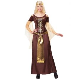 Disfraz vikinga largo con velo