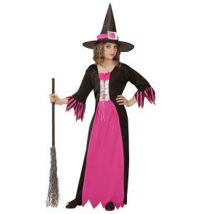 Disfraz bruja rosa infantil