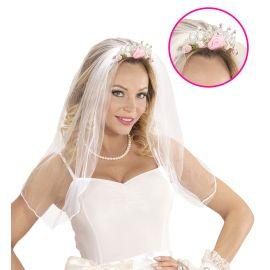 Velo novia con tiara
