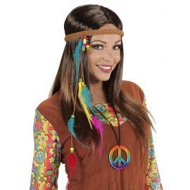 Cinta hippie con plumas