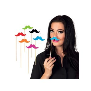 Set 6 bigotes multicolor