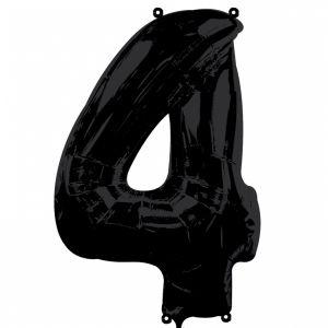 Globo helio número 4 negro