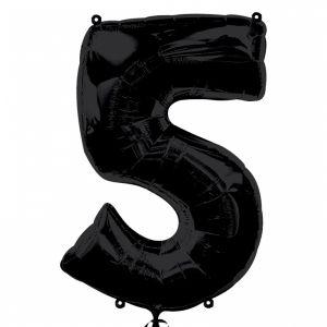 Globo helio número 5 negro