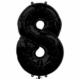 Globo helio número 8 negro