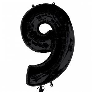 Globo helio número 9 negro