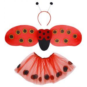 Set mariquita con tutu alas y antenas