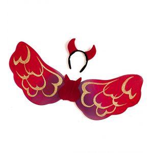 Set diablesa alas y cuernos