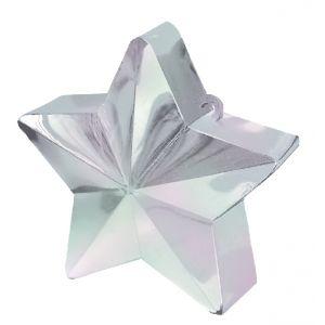 Peso saquito estrella blanco iriscente