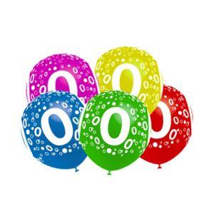 Globos numero 0 pack 10 und