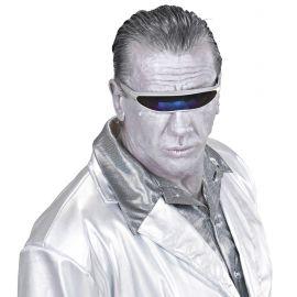 Gafas robot plata