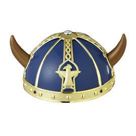 Casco vikingo azul infan
