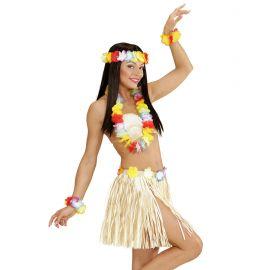 Set hawaiana falda collar corona y pulse
