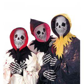Set esqueleto capucha y guantes surt