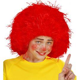 Peluca cardada roja infantil