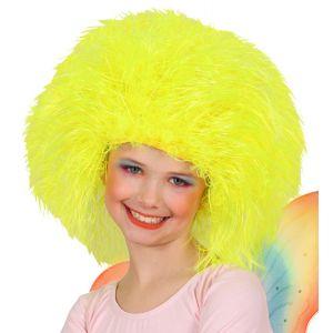 Peluca cardada amarilla infantil