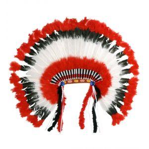 Penacho indio americano rojo