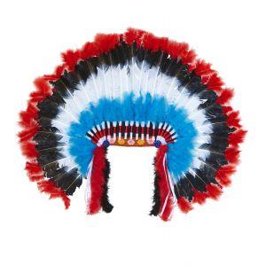 Penacho indio americano azul