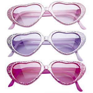Gafas purpurina corazon inf